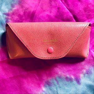 Kate Spade pink leather eyeglass case